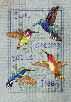 Download - Your Little Cross Stitcher: 182 - Our dreams set us free