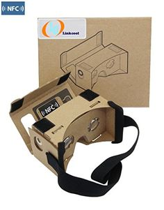 3Csmart DIY 3D Google Cardboard Glasses  Mobile Phone Virtual Reality 3D Glasses NFC