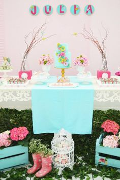 Enchanted Garden Party - Baby Shower Ideas - Themes
