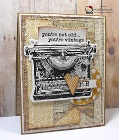 MOJO300 Vintage Birthday by maestra - Cards and Paper Crafts at Splitcoaststampers
