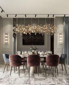 Modern Dining Room Design Ideas That Are Comfortable - Luxury Home Decor, Luxury Interior Design, Cheap Home Decor, Modern Furniture, Modern Classic Interior, Flat Interior, Elegant Home Decor, Elegant Dining, Contemporary Interior Design
