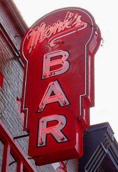 The Original Monk's Bar - Downtown Wisconsin Dells Neon Signs Uk, Vintage Neon Signs, Custom Neon Signs, Monk Bar, Main Street America, Roadside Signs, Neon Licht, Neon Moon, Power Colors