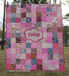 Crib Quilt for Emma - Quilted Twins Blog Post