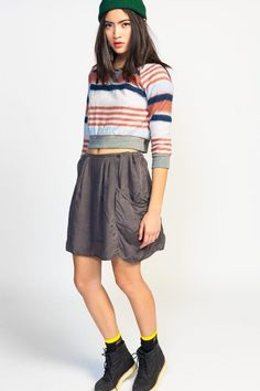 #Koshka                   #Skirt                    #Drop #Pocket #Skirt      Fil de Fer Drop Pocket Skirt                                                  http://www.seapai.com/product.aspx?PID=1129561