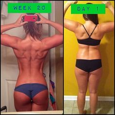Before and after - fitness motivation