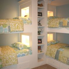 Very cool kids bunk beds built ins  @ Houzz.com  Maybe when I have a 2 nd and they are old enough for sleepovers!