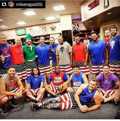 Rangers in their Mike Napoli shorts.