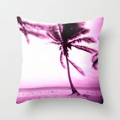 Stormy Palm Throw Pillow by julieart