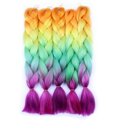 Hair Braids Hair Extensions & Wigs Feilimei Ombre Colored Crochet Hair Extensions Kanekalon Hair Synthetic Crochet Braids Ombre Jumbo Braiding Hair Bundles Good Reputation Over The World