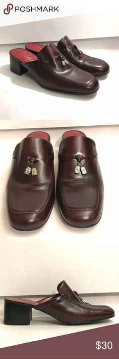 Lauren Ralph Lauren classic maroon tasseled mule Classic maroon tasseled mule. Minimal wear on sole. Heel savers have been added. Lauren Ralph Lauren Shoes Mules & Clogs