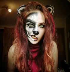 Rotkäppchen/Wolf | Little Red Riding Hood | Face Painting | instagram: _anninymous_