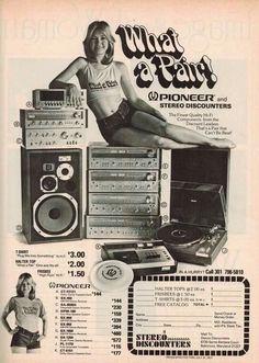 Vintage audio Pioneer ad