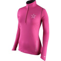 8b86ceb27 ... Cowboys Nike Breast Cancer Awareness Element 12 Zip Performance Jacket  – Pink Support Breast NFL Mens ...