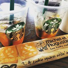 Notre aventure gourmande et entrepreneuriale continue chez nos amis #Starbucks à #Paris et #NYC !  Partagez avec nous vos photos cookie / coffee ! #biscuit #americanwayoflife #food #coffee