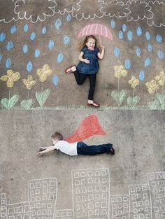 These chalk photo ideas look like so much fun!