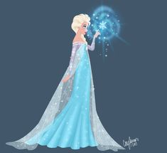 elsa art | elsa and a snowflake by cor104 fan art digital art painting ...