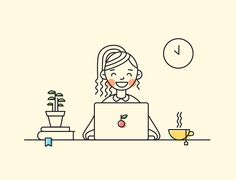 Illustrator Nataly Sheveleva from Russia decided to level up her own illustration skills by creating a 20 days line illustration challenge. Website Illustration, Simple Illustration, Digital Illustration, Illustration Styles, Logo Design Inspiration, Icon Design, Design Design, Logo Online Shop, Illustrations And Posters