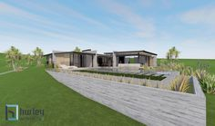 Concept for a new Pavilion House located in Rural Pukekohe. Home Design New Zealand. Auckland Waikato Coromandel