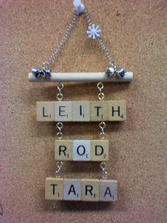 Scrabble Tile Family Names Plaque Ornament by Kraftivities on Etsy, $10.00