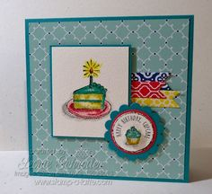 Stampin' Up! Sketched Birthday Sketched Birthday, Quatrefancy DSP, Birthday, Banners Stamp A Latte - Stampin, Scrappin, giftin with Leonie Schroder, Stampin Up Australia