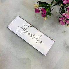 Mirror Acrylic Table Names, Personalised Place Setting, Wedding Place Name, Laser Engraved Place Card Wedding Place Names, Wedding Places, Wedding Day, Acrylic Table, Place Settings, Laser Engraving, Mirrors, Custom Design, Place Cards