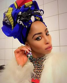 Khanyi Mbau Beautiful South African Women, African Outfits, Turbans, Hijabs, African Beauty, My People, Scarves, Accessories, Style