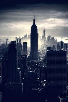 The Empire State Building, Manhattan, New York City     Majestic, quiet without people,