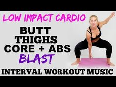 Low Impact Cardio, Lower Body, Butt, Thighs and Abs Workout, Lower Body Toning - YouTube
