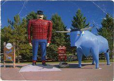 Paul Bunyan and Babe the blue Ox. Bemidji, Minnesota