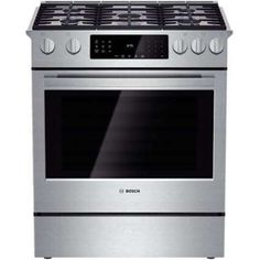 Shop Bosch 800 Series Standard Self-Cleaning Convection Single Oven Dual Fuel Range (Stainless Steel) at Lowe's Canada online store. Find Single Oven Dual Fuel Ranges at lowest price guarantee. Cleaning Oven Racks, Self Cleaning Ovens, New Jersey, Ranger, Slide In Range, Convection Cooking, Microwave Convection, Single Oven, Large Oven