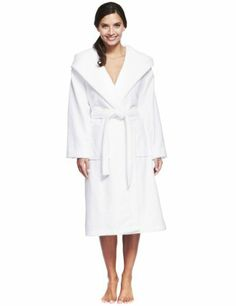 Hooded Shawl Collar Cosy Towelling Belted Dressing Gown-Marks & Spencer ON OFFER TODAY!