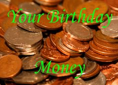 Your Birthday money Coin Greeting Card
