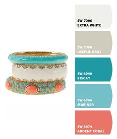Color palette for the future home? With a dark brown to match the couch and dining table.