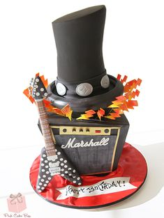 Rock N' Roll Birthday Cake