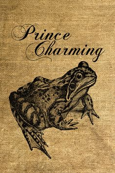 """She'd laugh every time I'd say, """"Toad You So!""""  (Prince Charming Frog Vintage Illustration)"""