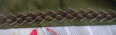 Wind from the East: swap - Reversed Fly stitch.