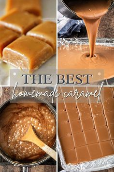 Best Homemade Caramel Recipe is perfect for making caramel apples and all your favorite fall treats and desserts. It's incredibly easy and ready in about 30 min. It truly is THE BEST homemade caramel recipe around. Homemade Caramel Recipes, Apple Recipes Easy, Homemade Desserts, Fudge Recipes, Best Dessert Recipes, Candy Recipes, Dessert Dips, Sweets Recipes, Yummy Recipes