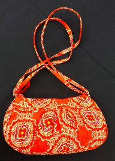 90096fb43fa8 Vera Bradley Purse Folkloric Frannie Shoulderbag Orange EUC Crossbody Bag   VeraBradley  ShoulderBagCrossbody Vera Bradley