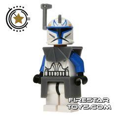 Captain Rex LEGO Minifigure   ... Rex with Helmet Antenna   Star Wars Clone Wars LEGO Minifigures   LEGO
