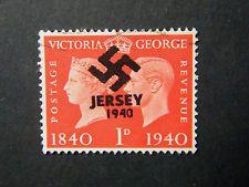 Local England WW II Occupation overprint Jersey used