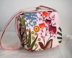 I love everything in this shop!!  Messenger Bag in Anna Maria Horner print by moxiebscloset on Etsy, $45.00