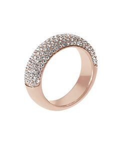 Michael Kors Pave Dome Ring, Rose Golden - Neiman Marcus I could also have this for my birthday.