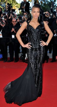 Spotted: Cassie Steps Out Black Swan Chic at The 2012 Cannes Film Festival (We LOVE It!) | StyleBlazer