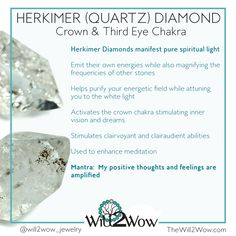 crystal healing herkimer quartz diamond