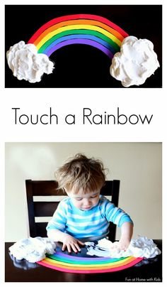 Toddler Rainbow Sensory Play from Fun at Home with Kids