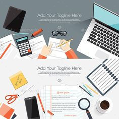 Buy Flat Designed Banners by on GraphicRiver. Flat designed banners for creative project, graphic design development, business, finance. Flat Design, Web Design, Graphic Design, Design Desk, Budget Binder, Coffee Colour, All Fonts, Design Development, Banner Design