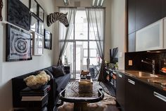 Uptown Loft - Montana Labelle masculine and luxurious small living room