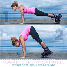 Plank Pike-Up on Front Wheel - Get Inline Fit - K2 Skate Workout