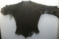 European riveted mail hauberk, 12th century, Museum of Bayeux, France. G1.