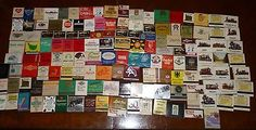 Lot Of Approx 143 Vintage To Modern Advertising Restaurants Hotels Matchbooks